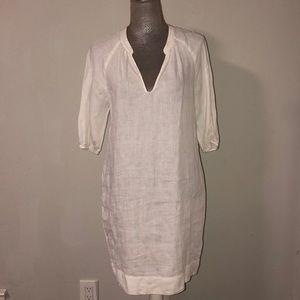 Vince White linen dress, size small